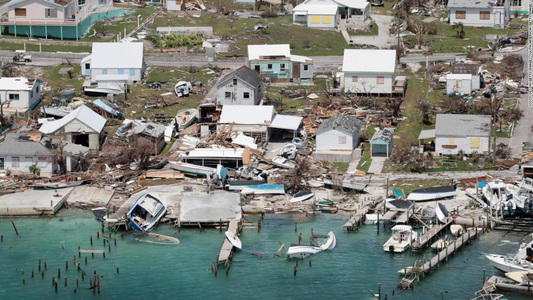 Boats, docks and houses on Great Abaco Island were destroyed by Hurricane Dorian.