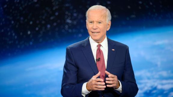 Democratic presidential candidate Joe Biden participates in CNN