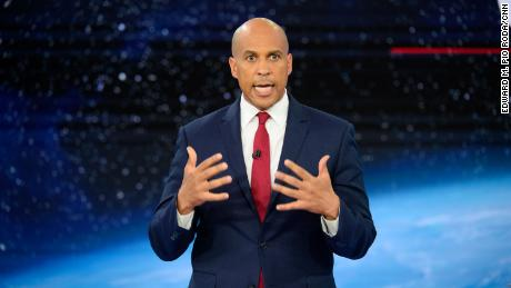Image result for Cory Booker cnn climate town hall