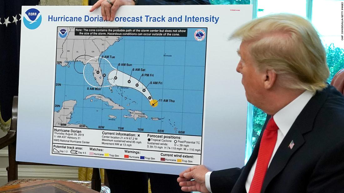 Washington Post: Trump was the one who altered Dorian trajectory map with Sharpie