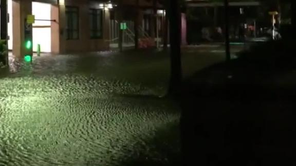 Dorian brings flooding to Charleston.