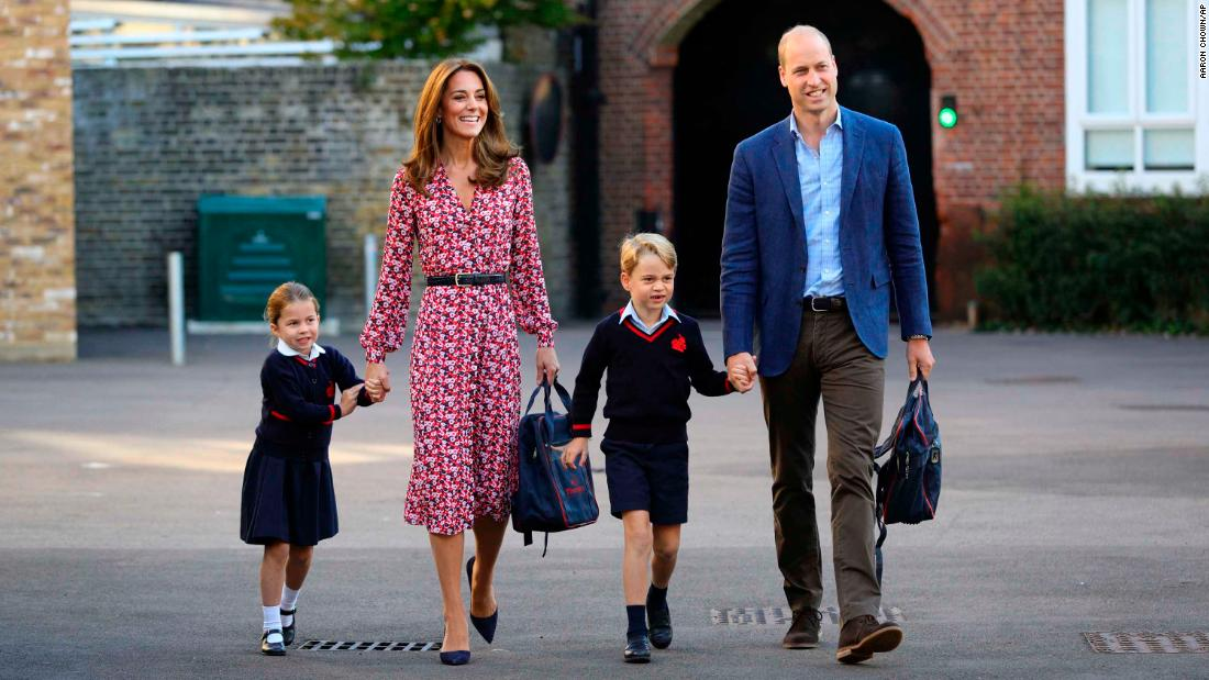 "Britain's Princess Charlotte is joined by her parents and her brother Prince George as she arrives for <a href=""https://www.cnn.com/2019/09/05/uk/princess-charlotte-school-gbr-intl/index.html"" target=""_blank"">her first day of school</a> on Thursday, September 5."
