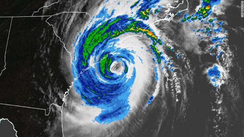 Hurricane Dorian gains strength heading to Carolinas