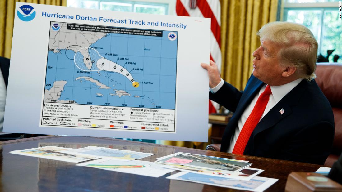 NOAA disavows National Weather Service tweet that refuted Trump's claim Dorian was headed toward Alabama