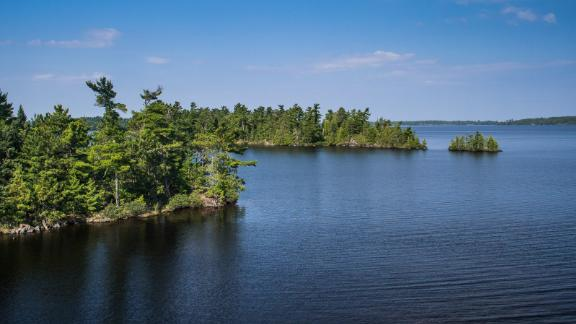 Red Pine Island is on Rainy Lake in Ontario.
