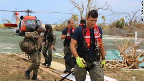 Coast Guard crews from across the Coast Guard have rescued 135 people and six pets in the Bahamas since Hurricane Dorian began.