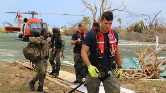 Nearly 140 US Coast Guard personnel have responded to Dorian in the Bahamas.