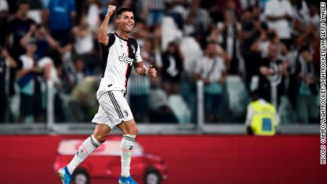 Cristiano Ronaldo of Juventus FC celebrates after scoring a goal for Juventus. He has been included in every FIFPro World 11 shortlist since its inception in 2005.