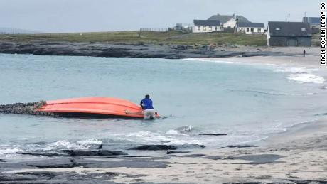 US Navy boat found floating in the Atlantic by Doolin Ferry Co. in Ireland.