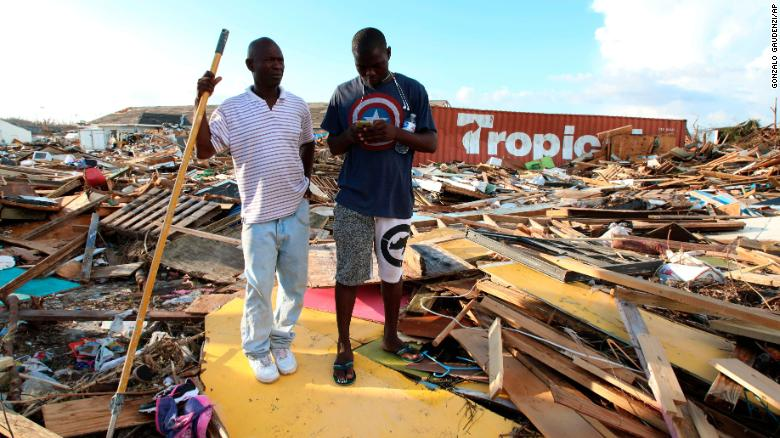 The extensive damage and destruction in the aftermath of Hurricane Dorian in Great Abaco, Bahamas.