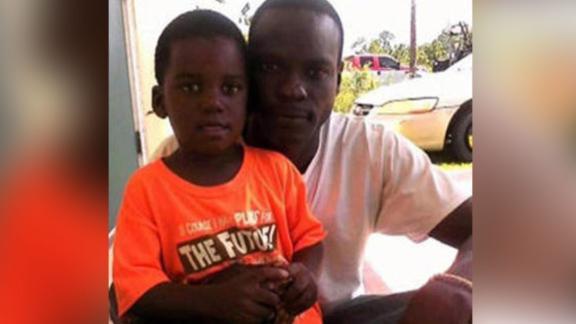 Adrian Farrington  and his son, Adrian Jr.