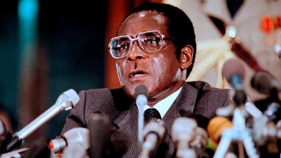 Mugabe delivers a speech in Harare in August 1986.