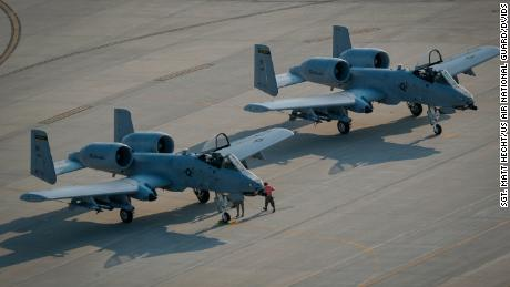 A US Air Force A-10C Thunderbolt II aircraft, similar to these fighter jets from the Indiana Air National Guard's 122nd Fighter Wing, unintentionally launched a rocket in the Arizona desert on Thursday.
