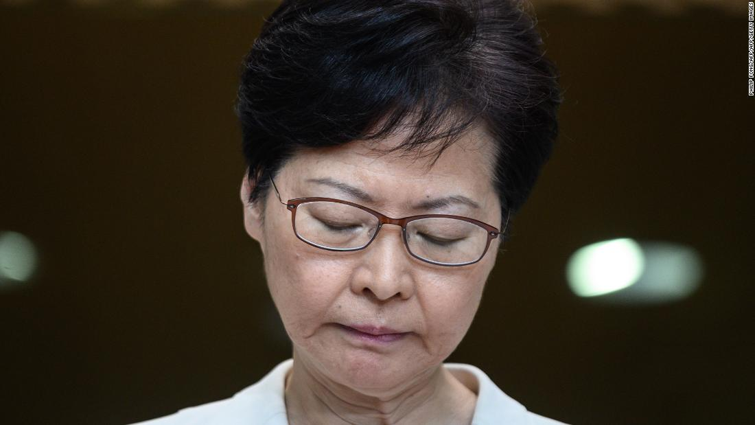 Hong Kong's leader warns US not to interfere in protests