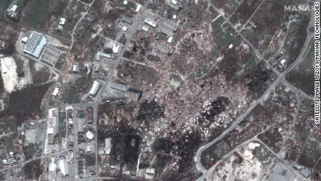 Satellite images show the devastation Hurricane Dorian caused in the Bahamas