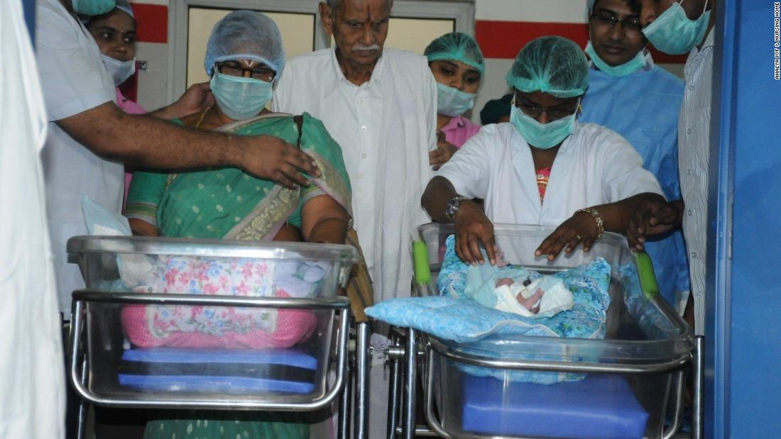 73-year-old woman in India gives birth to twins - CNN