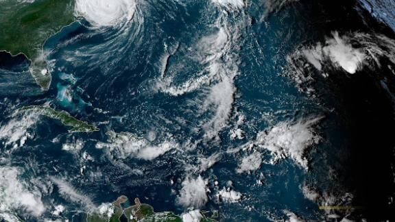 A satelilite view of conditions in the Atlantic from Friday, September 6.