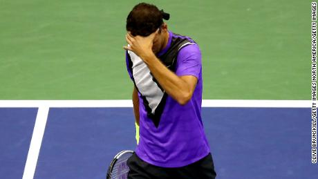 Grigor Dimitrov's US Open came to an end Friday in the semifinals.