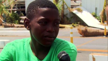 Young Dorian survivor saw woman get swept away with baby
