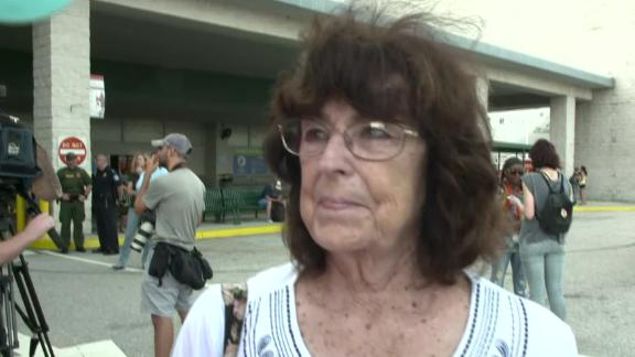 Pat Allard, at the Port of Palm Beach, described how the storm destroyed her condo.