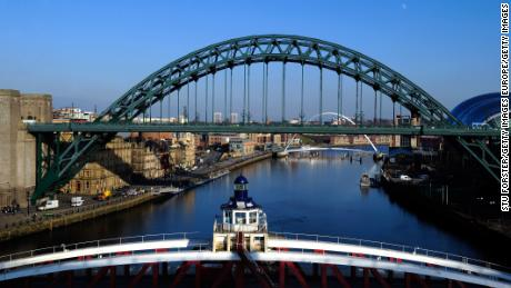 The Great North 5K takes place yearly on the Quayside along the River Tyne, pictured.