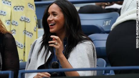 Meghan, the Duchess of Sussex, watched her good friend Serena Williams in the US Open final Saturday.