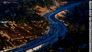 The 405 freeway through the Sepulveda pass