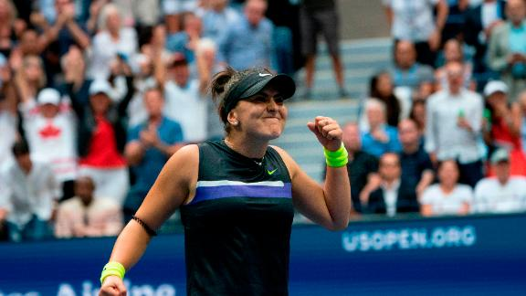 Andreescu is the first teen in 13 years to win a grand slam title.