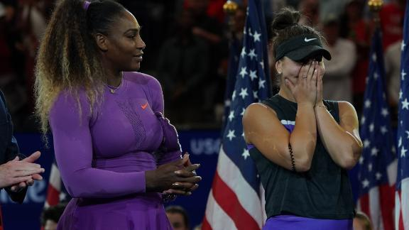 Bianca Andreescu is stunned after defeated Serena Williams for her first grand slam title