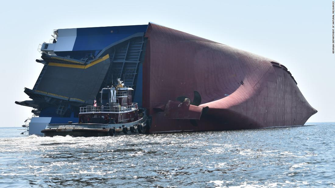 How to move a massive shipwreck: A chain making seven cuts and a lot of noise