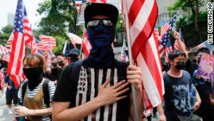 Hong Kong protesters march to US Consulate