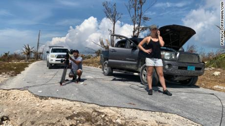 CNN producer Jaide Timm-Garcia and photojournalist Jose Armijo have created a live photo of the hit High Rock, Big Bahama Island.