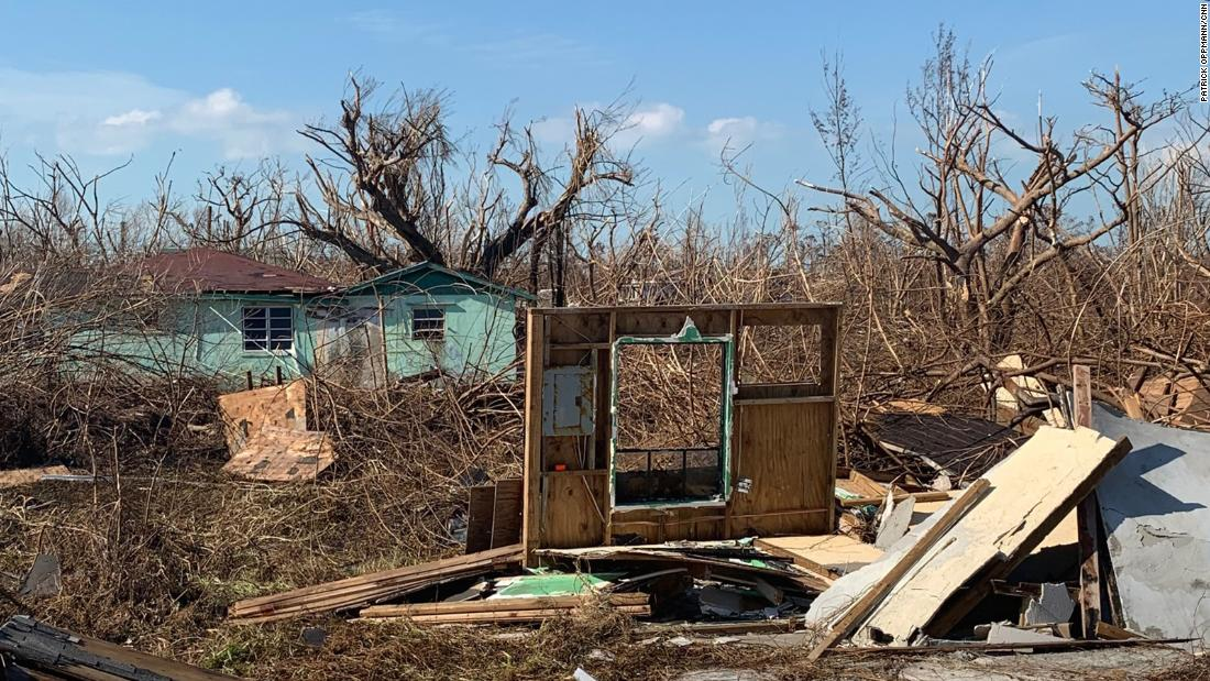 In some towns on Grand Bahama Island, residents say the majority of homes were destroyed.