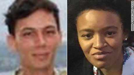 Authorities are looking for hikers Kyle Brittain, left, on Hawaii and Khiara Henry on Maui.