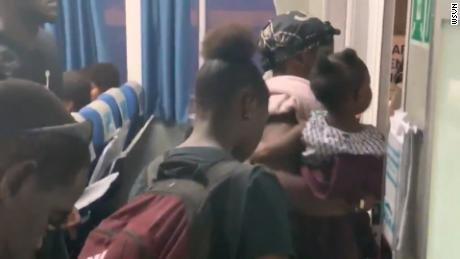 Bahamian evacuees were told to get off a US-bound ferry