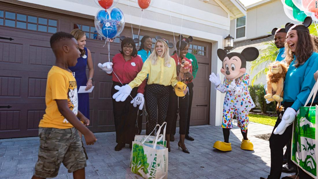 The boy who spent his Disney vacation savings to feed Dorian evacuees gets a surprise trip to Disney World