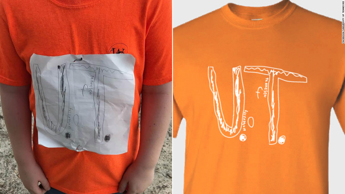 He was bullied for his homemade University of Tennessee T-shirt. The school just made it an official design