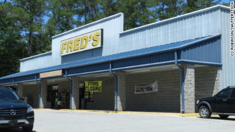An exterior of a Fred's store.