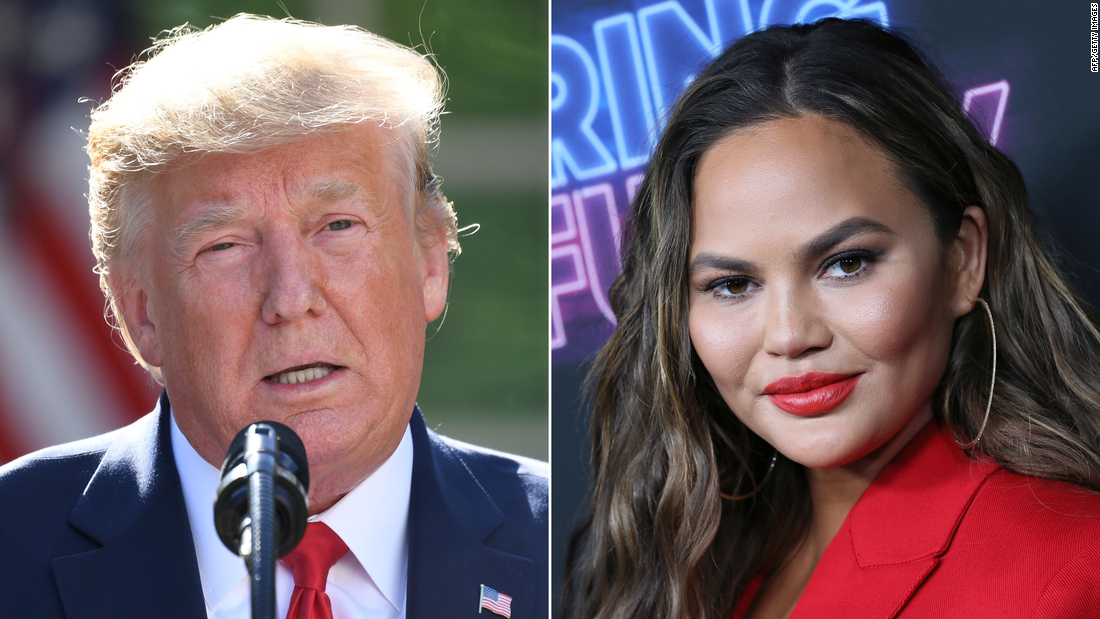 Trump attacked Chrissy Teigen on Twitter. She wasn't having it