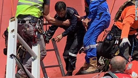 Passageways became pits for rescuers trying to save crew aboard capsized cargo ship off Georgia coast