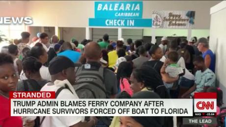 Dorian survivors left stranded in The Bahamas after confusing message from a ferry boat company