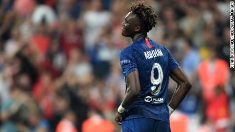 Tammy Abraham received racist abuse on social media after the Super Cup final.