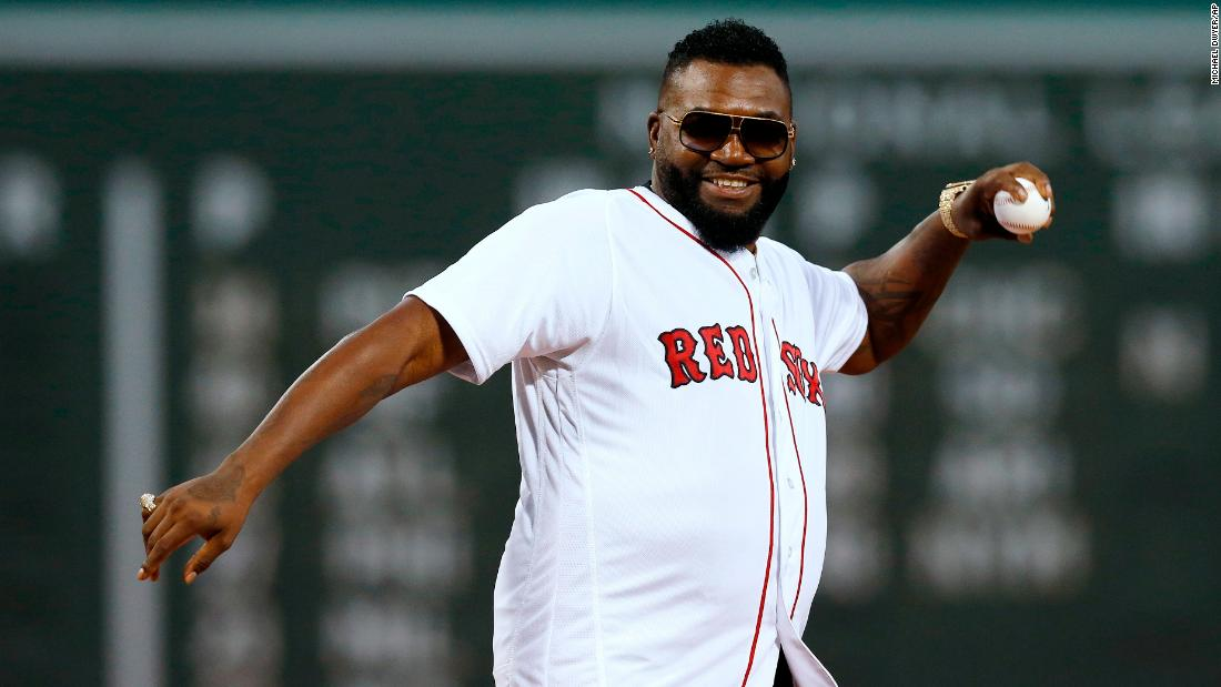 David Ortiz throws out ceremonial first pitch at Fenway Park in his first public appearance since being shot