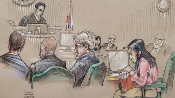 Defendant is: Yujing Zhang Artist is: Daniel Pontet Location: Fort Lauderdale, Florida