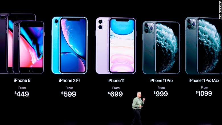 Apple unveiled three new iPhones -- the iPhone 11, iPhone 11 Pro, and iPhone 11 Pro Max -- at a closely watched press event at its headquarters in Cupertino, California on Tuesday. The devices feature improved cameras and battery life from the prior year, but no radical redesign.