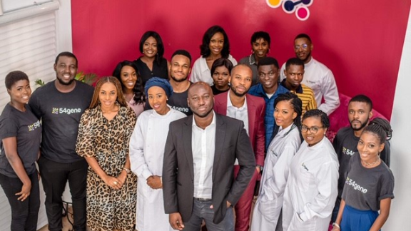 The 54gene team in Nigeria, the company's base of operations.