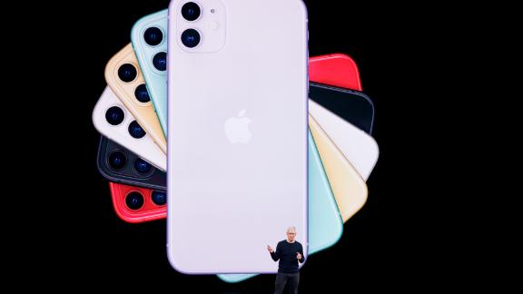Apple CEO Tim Cook talks about the latest iPhone during an event to announce new products Tuesday, Sept. 10, 2019, in Cupertino, Calif. (AP Photo/Tony Avelar)
