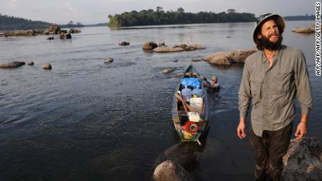 De Rothschild in the Xingu River, Brazil during a 2011 expedition in the Amazon.