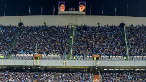 Women are barred from watching football matches in Iran.