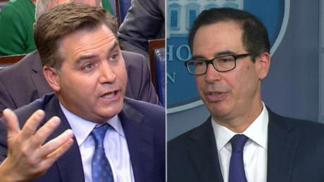Acosta presses Mnuchin: Is national security team a mess?